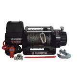 Carbon Winch 12V 17000lb Heavy Duty Series winch with synthetic rope