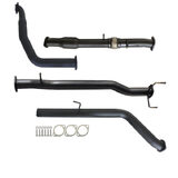 "FORD RANGER PJ PK 2.5L & 3.0L AUTO 3"" TURBO BACK CARBON OFFROAD EXHAUST WITH CAT NO MUFFLER"