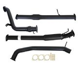 "FORD RANGER PX 2.2L 9/2011 - 9/2016 3"" TURBO BACK CARBON OFFROAD EXHAUST WITH HOTDOG & CAT"