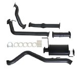 "ISUZU D-MAX RC 3.0L 4JJ1-TC 2008 - 2010 3"" TURBO BACK CARBON OFFROAD EXHAUST WITH MUFFLER & NO CAT"