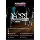 Dobinsons MRR Shock  Nissan GU Patrol Coil Rear 100mm 4 Inch Lift Monotube Remote Reservoir Pair  (Use with C45-271V Coil only)