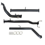 "MAZDA BT-50 UN 2.5L & 3.0L 07 - 11 MANUAL 3"" TURBO BACK CARBON OFFROAD EXHAUST PIPE ONLY"