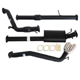 "MAZDA BT-50 UP, UR 3.2L 9/2011 - 9/2016 3"" TURBO BACK CARBON OFFROAD EXHAUST WITH CAT & MUFFLER SIDE EXIT TAILPIPE"