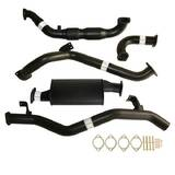 "TOYOTA LANDCRUISER 79 SERIES VDJ76 SINGLE CAB UTE 4.5L V8 07 - 10/2016 3"" TURBO BACK CARBON OFFROAD EXHAUST WITH CAT & MUFFLER"