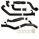 "TOYOTA LANDCRUISER 79 SERIES HDJ79R SINGLE CAB UTE 4.2L 2001 -2007 3"" TURBO BACK CARBON OFFROAD EXHAUST CAT & HOTDOG"