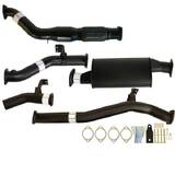 "TOYOTA LANDCRUISER 76 SERIES VDJ76 WAGON 4.5L V8 9/2016 > 3"" TURBO BACK CARBON OFFROAD EXHAUST WITH CAT & MUFFLER"