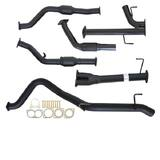 "TOYOTA LANDCRUISER 200 SERIES 4.5L 1VD-FTV 07 -10/2015 3"" TURBO BACK CARBON OFFROAD EXHAUST WITH CAT & PIPE"