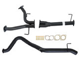 "TOYOTA LANDCRUISER 200 SERIES 4.5L 1VD-FTV 10/2015>3"" # DPF BACK # CARBON OFFROAD EXHAUST WITH PIPE ONLY"