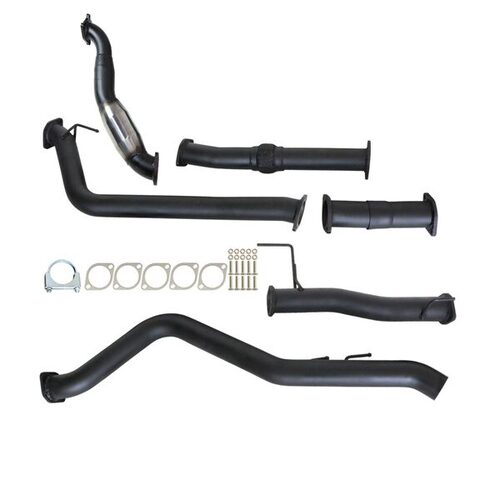 "ISUZU D-MAX RC 3.0L 4JJ1-TC 2008 - 2010 3"" TURBO BACK CARBON OFFROAD EXHAUST WITH CAT & NO MUFFLER"